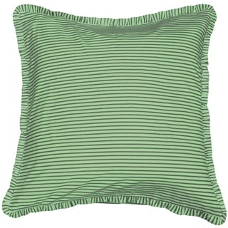 Cottage Home Mint Ticking Euro Sham