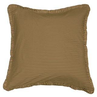 Cottage Home Dark Brown Ticking Euro Sham