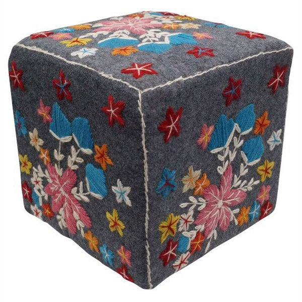 nuLOOM Ethnic Chic Cube Pouf