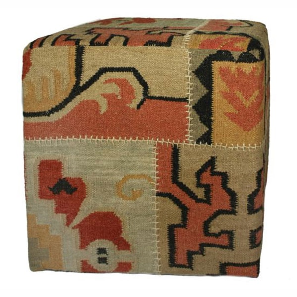nuLOOM Ethnic Chic Patchwork Pouf