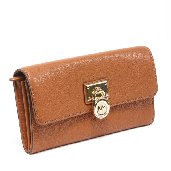 Michael Kors 'Hamilton' Large Luggage Leather Flap Wallet