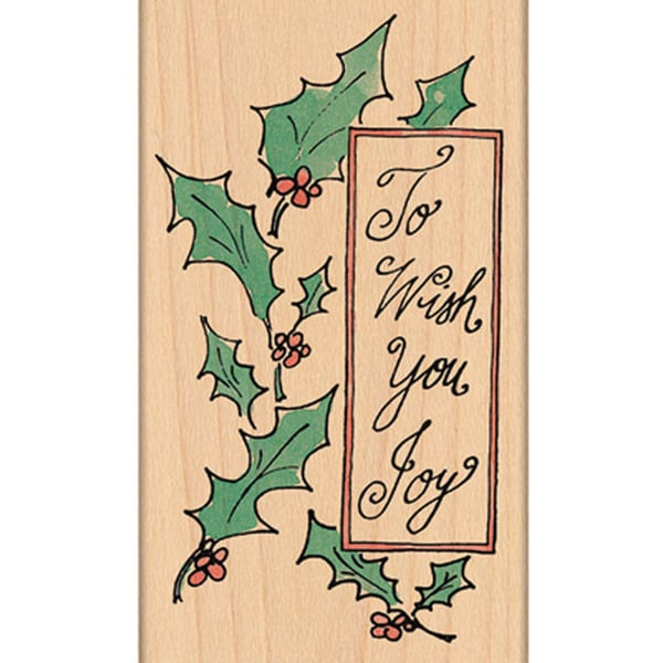 "Penny Black Mounted Rubber Stamp ...Wish You Joy (3"" x 5"")"