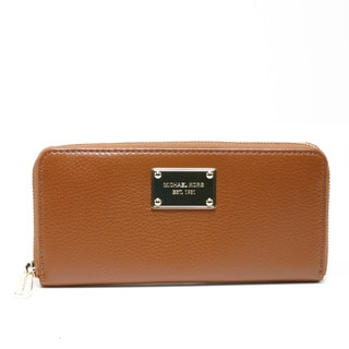 Michael Kors 'Jet Set' Luggage Leather Continental Zip Wallet