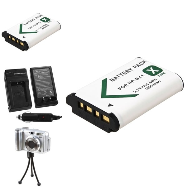 BasAcc Battery Charger/ Li-ion Battery/ Mini Tripod for Sony NP-BX1