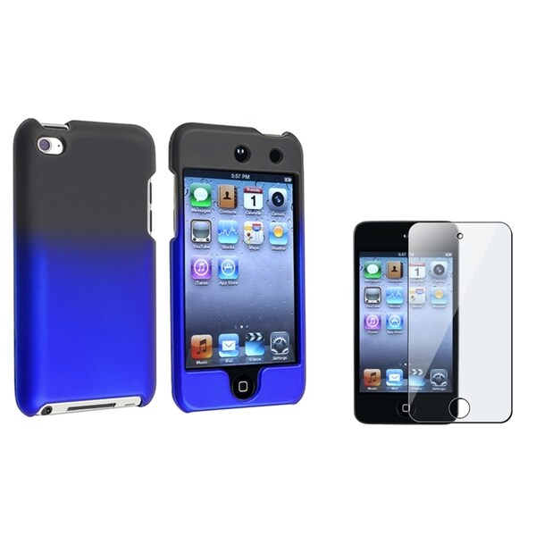 INSTEN Black/ Blue iPod Case Cover/ Protector for Apple iPod Touch Generation 4
