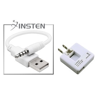 INSTEN USB Cable/ Travel Charger for Apple iPod Shuffle 2nd Generation