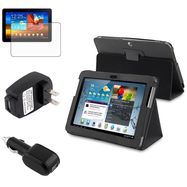 INSTEN Tablet Case Cover/ Screen Protector/ Charger for Samsung Galaxy Tab 2 10.1