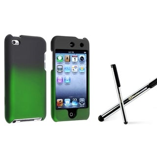 BasAcc Black/ Green Case/ Stylus for Apple iPod Touch Generation 4