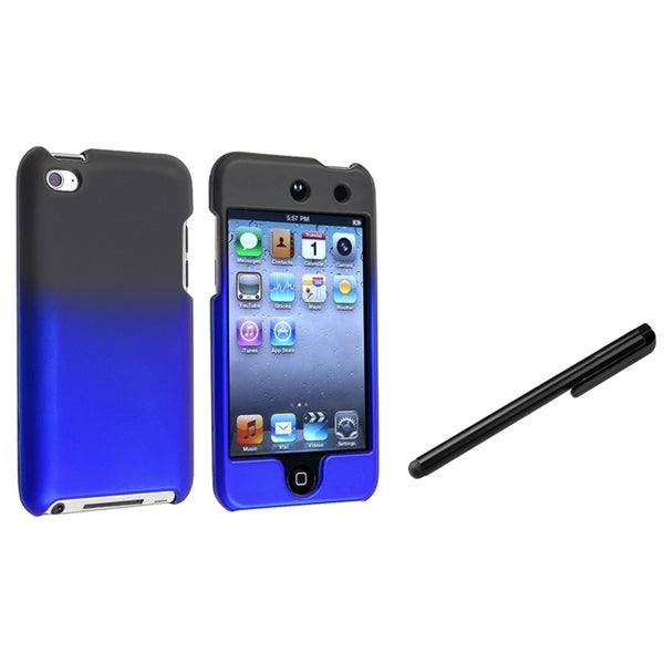 INSTEN Black/ Blue iPod Case Cover/ Stylus for Apple iPod Touch Generation 4