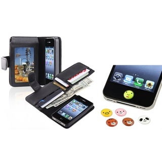 BasAcc Case/ Card Holder/ HOME Button Stickers for Apple iPhone 4/ 4S