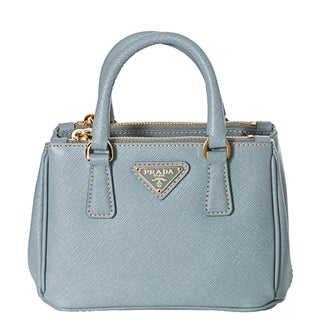 Prada 'Lux' Light Blue Saffiano Leather Mini Crossbody Bag