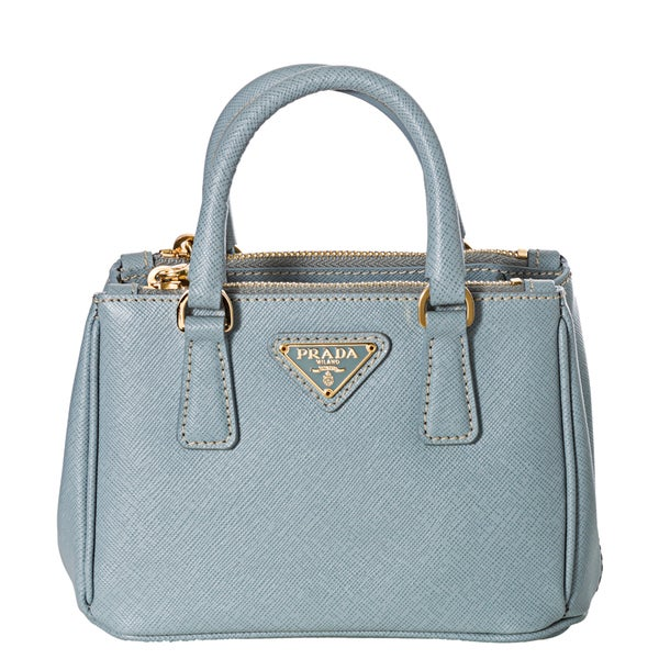 Prada \u0026#39;Lux\u0026#39; Light Blue Saffiano Leather Mini Crossbody Bag ...