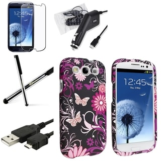 BasAcc Samsung Galaxy S3 Protective Case/ Charger