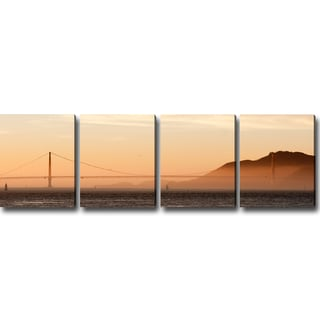 'San Francisco at Dawn' Canvas Art (Set of 4)