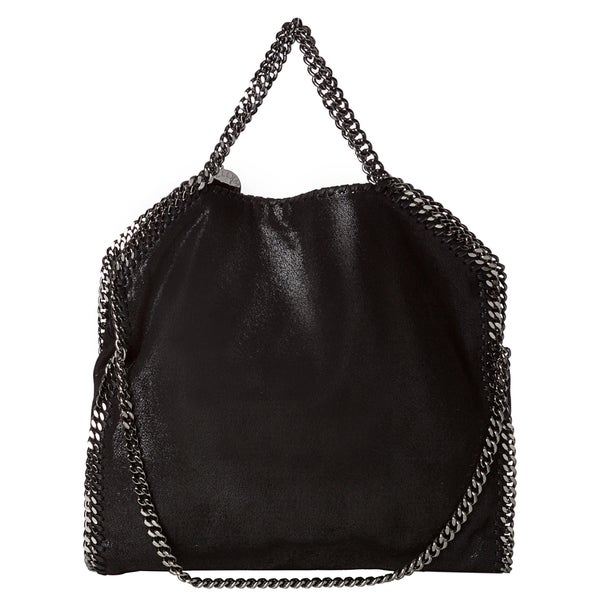 Stella McCartney 'Falabella' Black Shaggy Deer Fold-over Tote