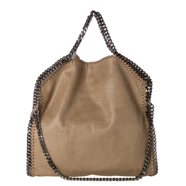 Stella McCartney 'Falabella' Beige Shaggy Deer Fold-over Tote