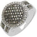 Malaika Sterling Silver 1/2ct TDW Champagne and White Diamond Ring (I-J, I3)