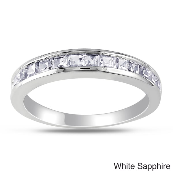 M by Miadora Sterling Silver Square-cut Gemstone Ring