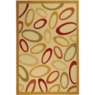 Paterson Collection Abstract Ivory Area Rug (3'3 x 4'7)