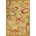 Paterson Collection Abstract Ivory Area Rug (8'2 x 9'10)