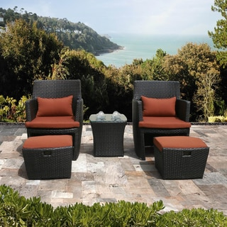 Bandio 5-piece Resin Wicker Outdoor Furniture Set