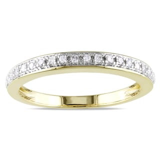 Miadora 14k Yellow Gold 1/10ct TDW Diamond Ring (G-H, I1-I2)
