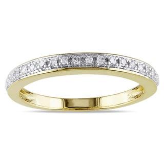 Miadora 14k Yellow Gold 1/10ct TDW Diamond Anniversary Ring (G-H, I1-I2)