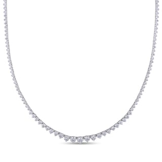Miadora 18k White Gold 4 1/2ct TDW Diamond Tennis Necklace (G-H, SI1-SI2)