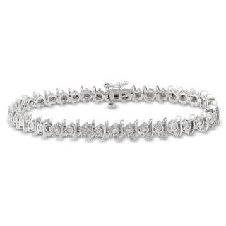 Sterling Silver 2/5ct TDW Diamond Bracelet (I-J, I2-I3)