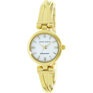 Anne Klein Women's Goldtone Mother of Pearl Dial Watch