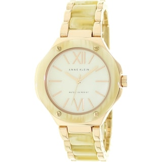 Anne Klein Women's Goldtone Mother-Of-Pearl Dial Watch