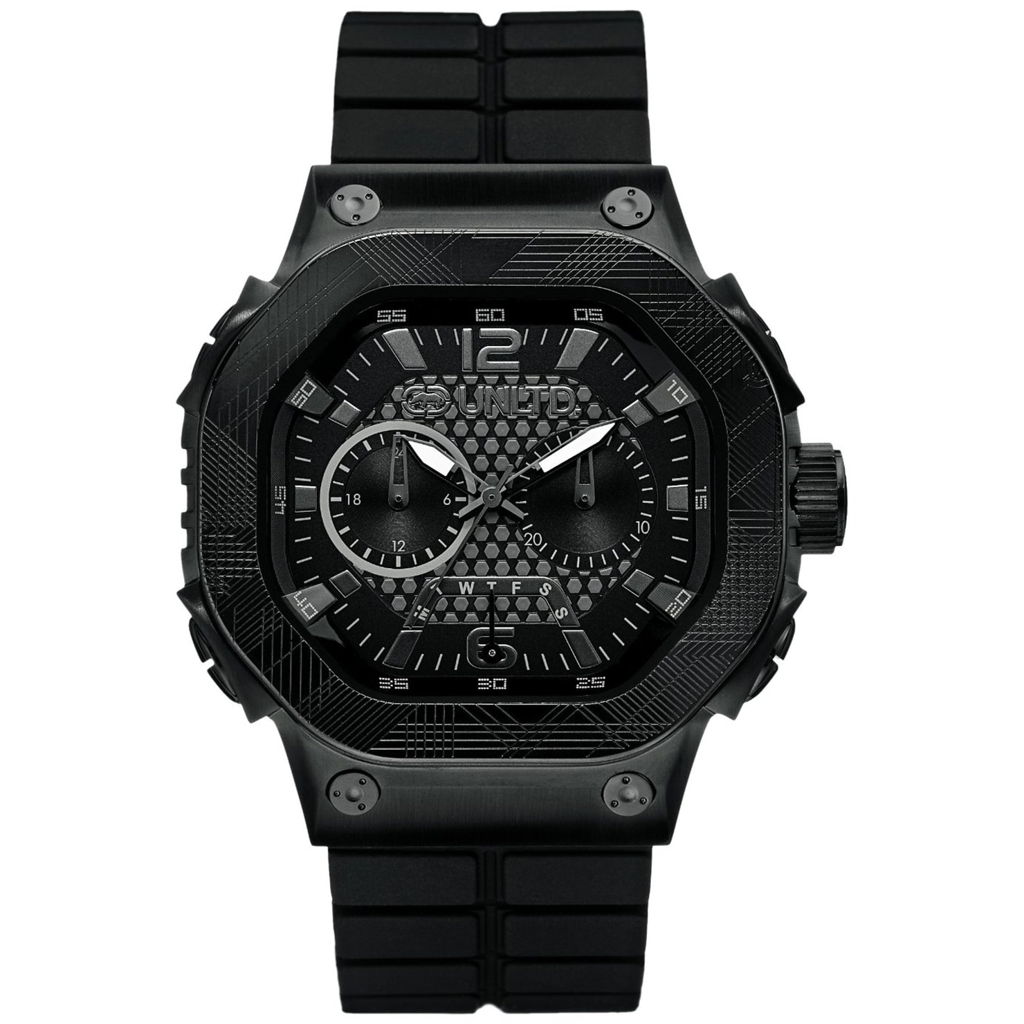 Marc Ecko Men's Black Silicone Strap Chronograph Watch at Sears.com