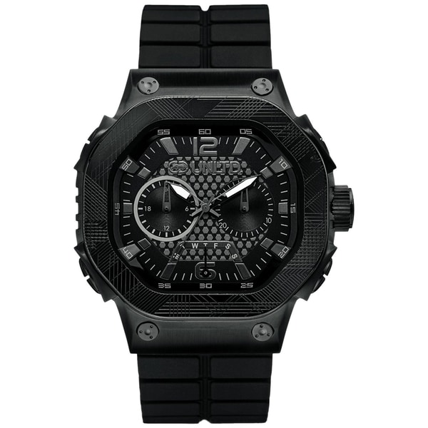 Marc Ecko Men's Black Silicone Strap Chronograph Watch
