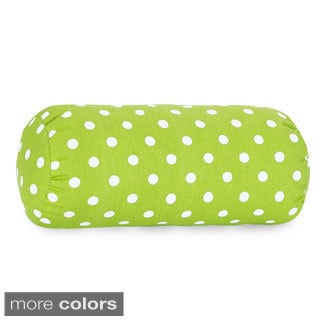 Small Polka Dot Round Bolster Pillow