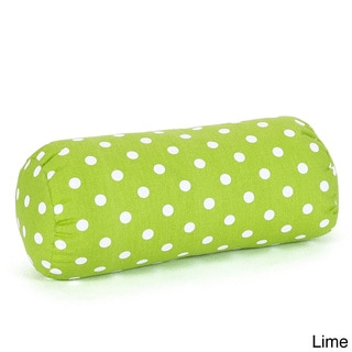Small Polka Dot Round Bolster Pillow