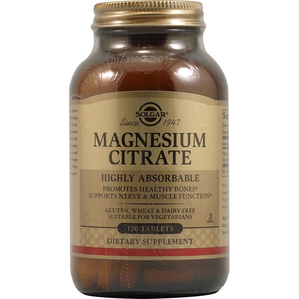 Solgar Magnesium Citrate (120 Tablets)