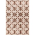 Allie Handmade Abstract Tan/Brown Wool Rug (5' x 7'6)