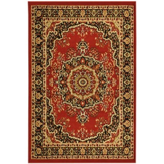 Paterson Collection Oriental Medallion Red Area Rug (5'x 7')