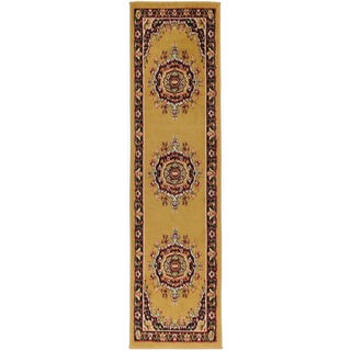 Paterson Collection Oriental Medallion Gold Runner Rug (1'11 x 6'11)