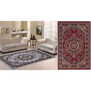 Paterson Collection Oriental Medallion Red Area Rug (7'9 x 9'10)