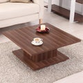 Pagodi Light Walnut Contemporary Coffee Table
