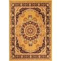 Paterson Collection Oriental Medallion Gold Area Rug (4&#39;9 x 7&#39;)