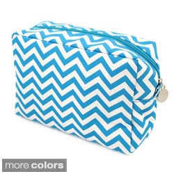 Chevron Spa and Makeup Bag