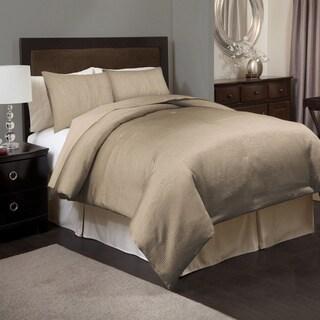 Lush Decor Channel Taupe 3-piece Comforter Set