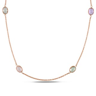 Miadora 18k Rose Gold Multi-gemstone Necklace