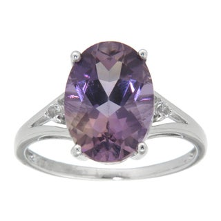 Pearlz Ocean Sterling Silver Oval-cut Blend Ametrine Ring
