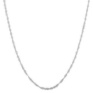 "Fremada Sterling Silver 1.22-mm Singapore Chain (16""-30"")"