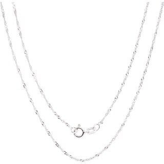 Fremada Italian Sterling Silver 1.22 mm Singapore Chain