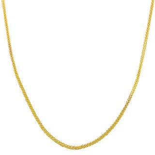 Fremada 14k Yellow Gold 1-mm Square Wheat Chain