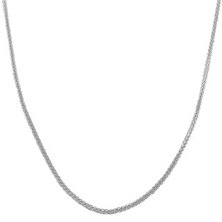 Fremada 14k White Gold 1-mm Square Wheat Chain